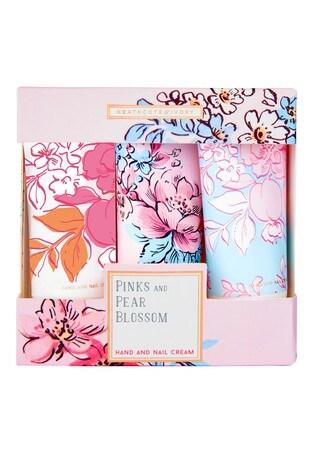 Heathcote & Ivory Florals Pinks & Pear Blossom Scent Hand Cream Trio Travel Size