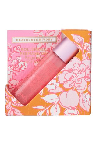 Heathcote & Ivory Florals Pinks & Pear Blossom Rollerball Perfume Gel With Vitamin E & Alcohol Free