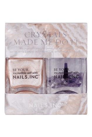 NAILS INC Nail Polish Duo Crystals Made Me Do It - (Worth £30)