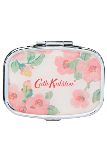 Cath Kidston Freston Cassis & Rose Compact Travel Mirror Lip Balm Care In Gift Box