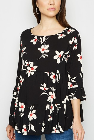 New Look Maternity Floral Peplum Blouse