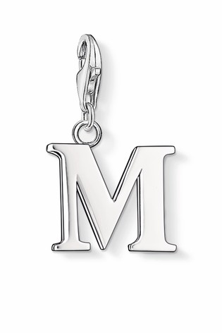 Thomas Sabo Silver Letter M Charm