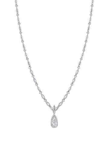 Jon Richard Silver Classic Pear Drop Necklace