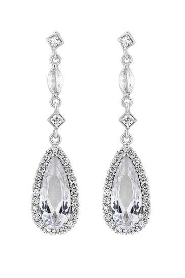 Jon Richard Classic Pear Drop Earrings