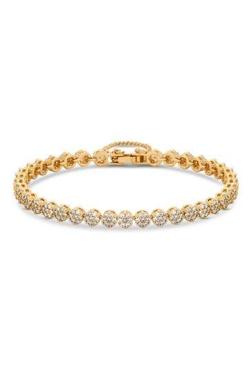 Jon Richard Gold Fine Pave Tennis Bracelet