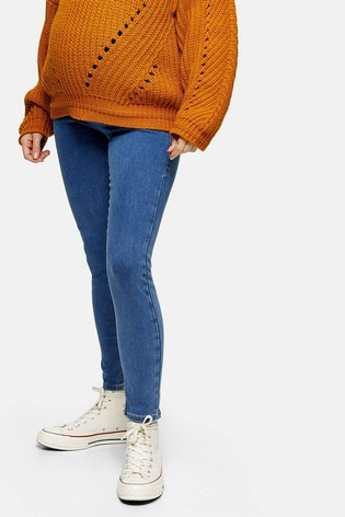 Topshop Maternity Over The Bump Short Leg Joni Skinny Jeans
