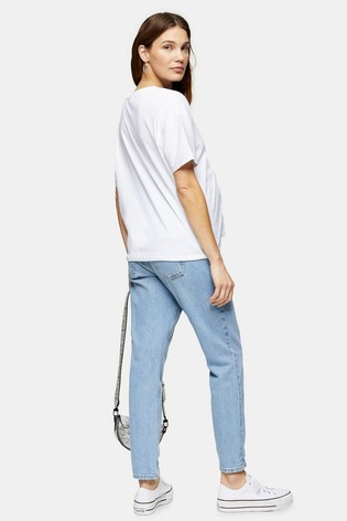 Topshop Maternity Over The Bump Short Leg Mom Jeans