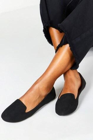 Boohoo Tab Top Slipper Ballet Flats