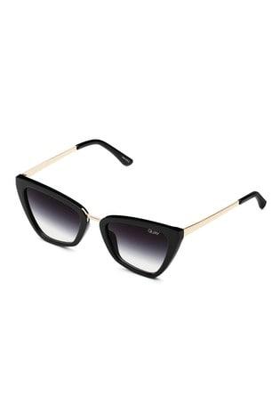Quay Australia Black Reina Mini Sunglasses