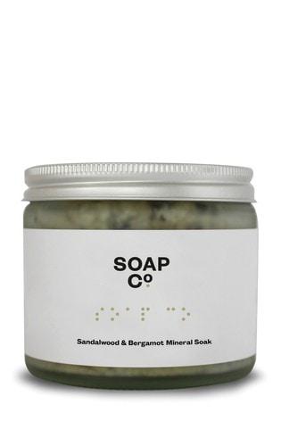 The Soap Co. Bergamot & Sandalwood Mineral Soak 220ml