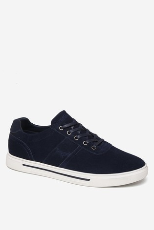 Threadbare Navy Lace-Up Trainers