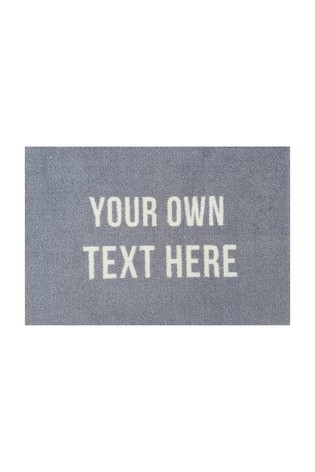 Personalised Own Message Doormat by Mattify
