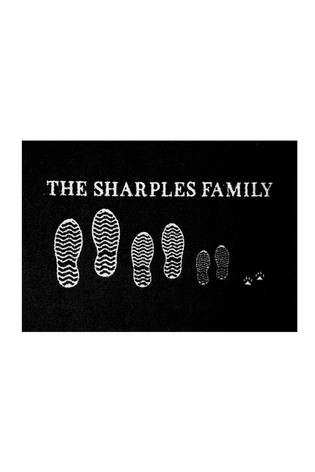Personalised Family Doormat by Mattify