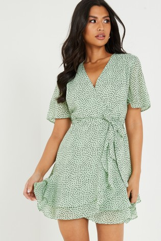 Quiz Frill Wrap Dress
