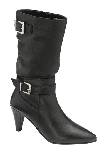 Ravel Black Leather Calf Boot