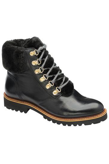 Ravel Black Leather Hiker Boot