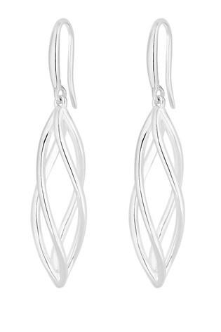 SimplySilverSterlingSilver925 Polished Cage Drop Earring