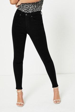Topshop Extreme Black Regular Leg Jamie Skinny Jeans