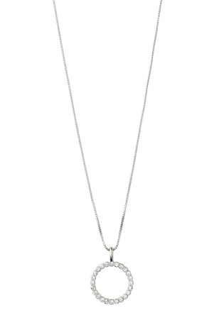 PILGRIM Silver Malin Crystal Necklace