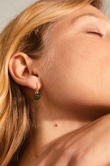PILGRIM Green Goldie Plated Earring
