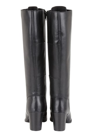 Lotus Footwear Black Lace Leg Boot