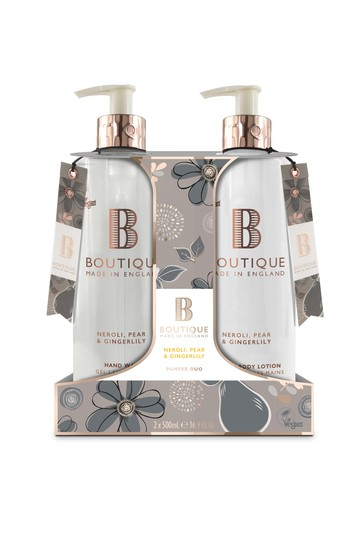 Boutique from The English Bathing Company Hand Duo 1 x 500ml Hand Wash, 1 x 500ml Hand & Body Lotion