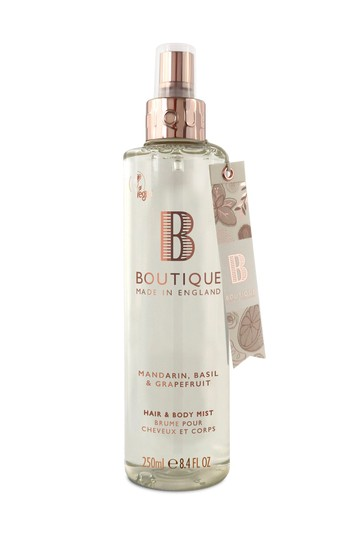 Boutique from The English Bathing Company Mandarin, Basil & Grapefruit Hair & Body Mist 250ml