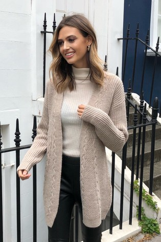 Lipsy Neutral Cable Cardigan