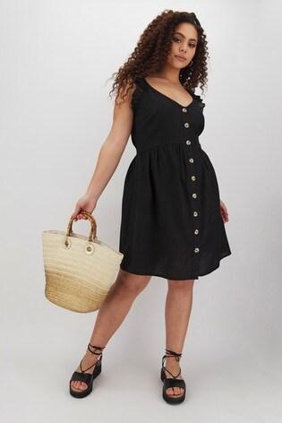 Simply Be Cold Shoulder Linen Dress
