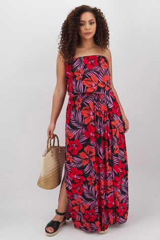 Simply Be Bandeau Jersey Maxi Dress