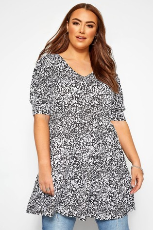 Yours Curve Short Sleeve Smock Top