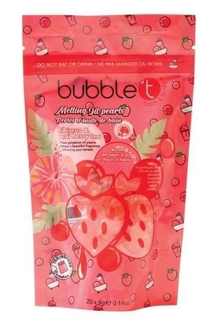 Bubble T Bath Pearls Hibiscus & Acai 20 x 8g