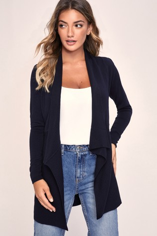 Lipsy Navy Waterfall Cardigan