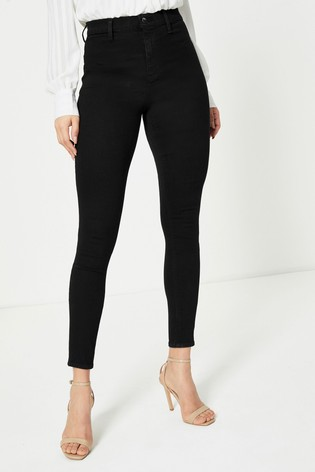 Topshop Belt Loop Long Leg Joni Jeans