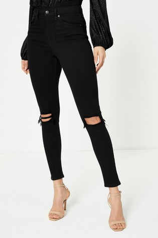 Topshop Long Leg Ripped Jamie Jeans