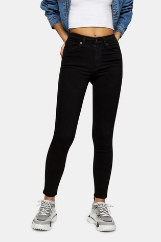 Topshop Black Regular Leg 5 Pocket Skinny Jeans