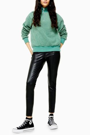 Topshop Piper PU Skinny Trouser