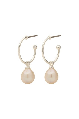 PILGRIM Silver Eila Plated Pearl Earrings