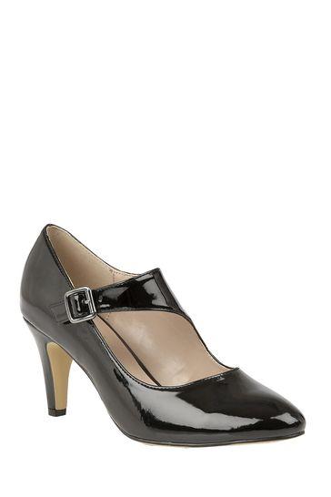 Lotus Footwear Black Heeled Shoe