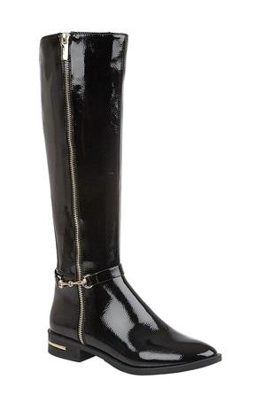Lotus Footwear Black Leg Boot