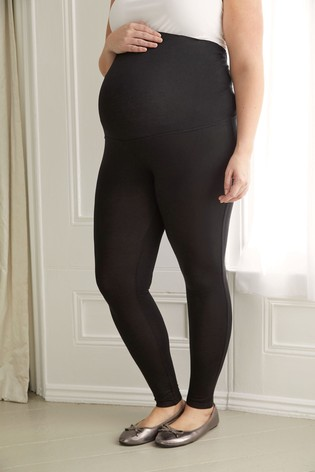 Bump It Up Black Maternity Support Full-Length Leggings