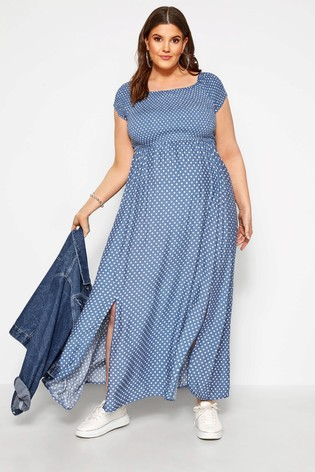 Bump It Up Curve Maternity Spot Print Maxi Dress