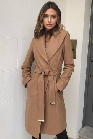 Lipsy Camel Shawl Robe Coat