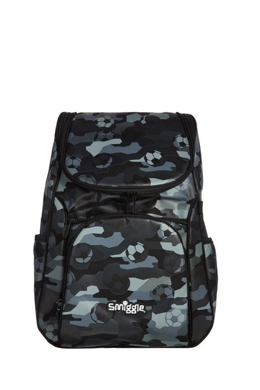 Smiggle Black Illusion Reflective Access Backpack