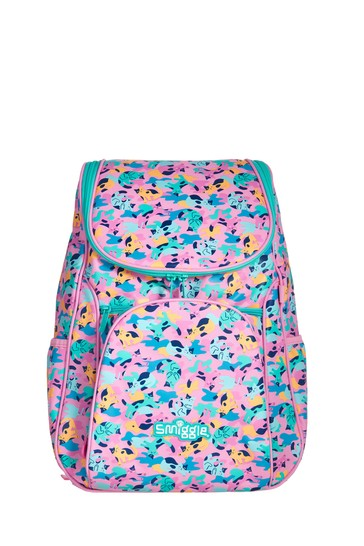 Smiggle Pink Illusion Reflective Access Backpack