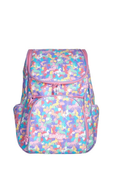 Smiggle Purple Illusion Reflective Access Backpack