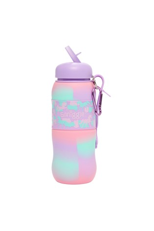 Smiggle Purple Illusion Silicone Roll Bottle