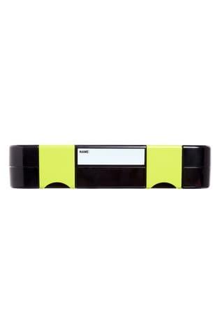 Smiggle Black Happy Bento Lunchbox