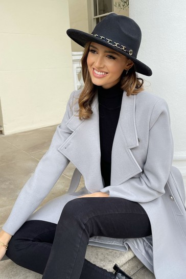 Lipsy Black Fedora Chain Hat