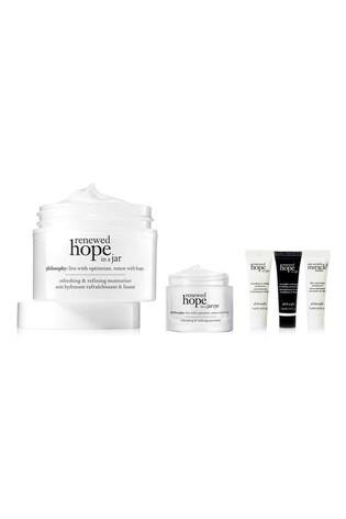 Philosophy Renewed Hope in a Jar and Renewed Hope in a Jar Eye Cream Bundle with Gift